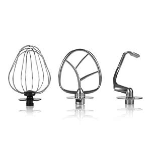 Whisk, Mixing Beater, Dough Hook